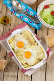 French style potato gratin with cheese and eggs Stock Image