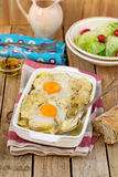 French style potato gratin with cheese and eggs Royalty Free Stock Image
