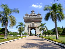French style temple, Vientiane, Laos. Temple in the center of Vientiane in Laos, built by the french Stock Photo
