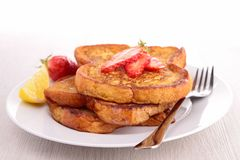 French sugar toast Stock Photos