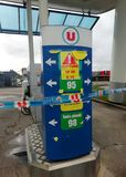 French filling station with no fuel stock images