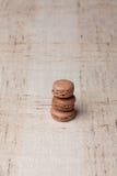 French sweet brown macarons. French sweet homemade brown macarons Stock Image