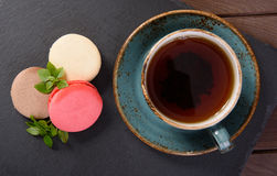 French sweet delicacy, macaroons Stock Photography