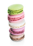 French sweet delicacy macaroons isolated Royalty Free Stock Images
