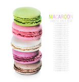French sweet delicacy macaroons Stock Images