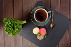French sweet delicacy, macaroons Stock Images