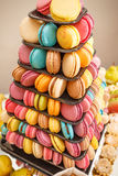 French sweet macaroons Stock Photos