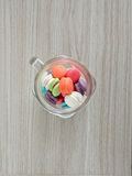 French sweet meringue-based confection called macarons Stock Image