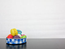 French sweet meringue-based confection called macarons Royalty Free Stock Images