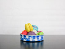 French sweet meringue-based confection called macarons Royalty Free Stock Image