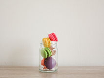 French sweet meringue-based confection called macarons Stock Images