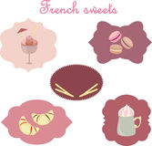 French sweets Royalty Free Stock Photography
