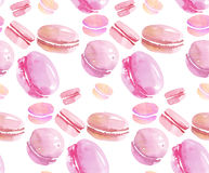 French sweets handdrawn concept. Stock Images