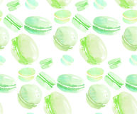 French sweets handdrawn concept. Royalty Free Stock Images