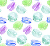 French sweets handdrawn concept. Royalty Free Stock Photo