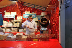 French sweets in street cafe. Paris Stock Images