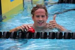 French Swimmer's Sebastien Rouault Stock Image