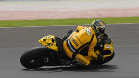 French Sylvain Guintoli of  Dunlop Yamaha at 2007 Royalty Free Stock Images