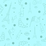 French symbols seamless pattern Stock Image