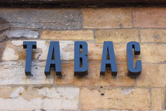 French Tabac Sign Stock Images