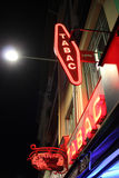 French Tabac Sign at Night Stock Image