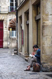 French teenager reading a book Stock Photos