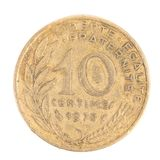 French 1978 Ten Centimes coin. Royalty Free Stock Photos