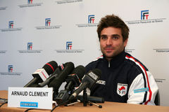 French tennisman's Arnaud Clement Stock Photography