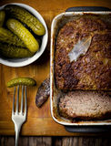The French terrine and pickles Royalty Free Stock Images