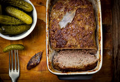 The French terrine and pickles Stock Photography