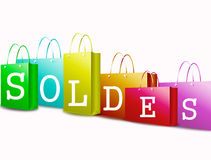 French text - soldes Royalty Free Stock Photos