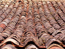French tiled roof Royalty Free Stock Images