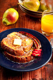 French Toast. Sausage accompanies French toast in a delicious breakfast Stock Images