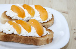 French toast  with apricots Stock Photography
