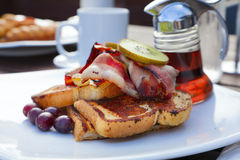 French toast with bacon Stock Images