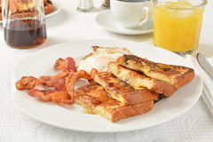 French toast, bacon and eggs Stock Image