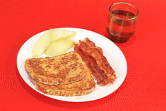 French Toast and Bacon Stock Photo