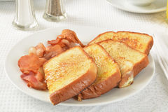 French toast and bacon Royalty Free Stock Photography