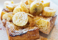 French toast with banana Stock Photos