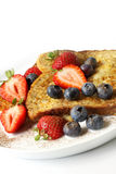 French Toast with Berries stock photography