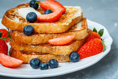 French toast with berries Royalty Free Stock Image