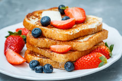 French toast with berries Stock Photo