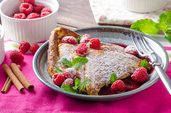 French toast with berries Stock Image