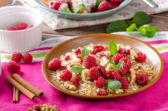 French toast with berries Royalty Free Stock Photo