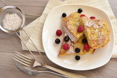 French toast with berries Royalty Free Stock Photography