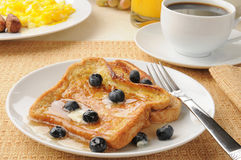 French toast with blueberries Stock Photography