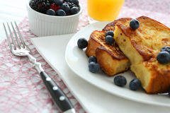 French toast. With blueberries and butter stock photography