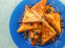 French toast. With blueberries and nectarine Royalty Free Stock Photography