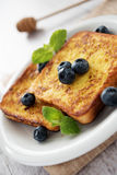 French toast with blueberries Royalty Free Stock Images