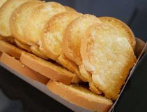 French Toast bread Bake butter. French Toast crisp bread Bake butter Stock Photos